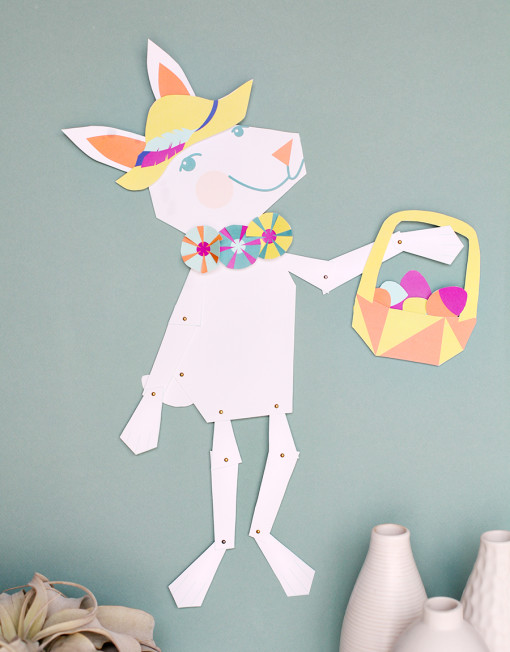 A wall size printable dress up Easter Bunny!! This is awesome, only $5