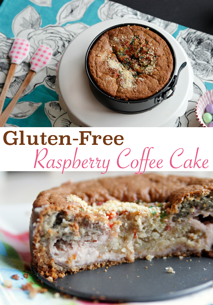 We made this gluten free raspberry coffee cake this week, the lemon and raspberry cream cheese filling was so good!!