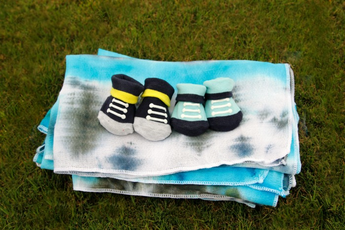 Baby booties & swaddling blankets make great gifts for a new mom