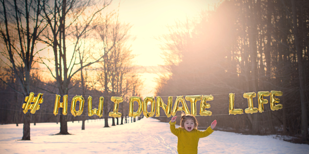 Join Matilda and her Mom in a campaign to collect 1,900 instagram photos - one for each of the 1,900 kids on the organ transplant waiting list. Find out more about pediatric organ donation and the #HowIDonateLife campaign on CloudyDayGray.com