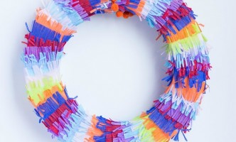 Cinco De Mayo Decorations: DIY Fiesta Piñata Wreath