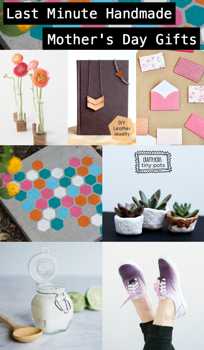 Last minute Mother's Day Gifts She'll Love, that you can make yourself! These are great ideas and some of them are so simple, why didn't I think of that?!