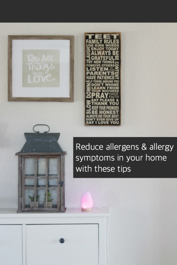 Great tips on how to reduce allergen in your home