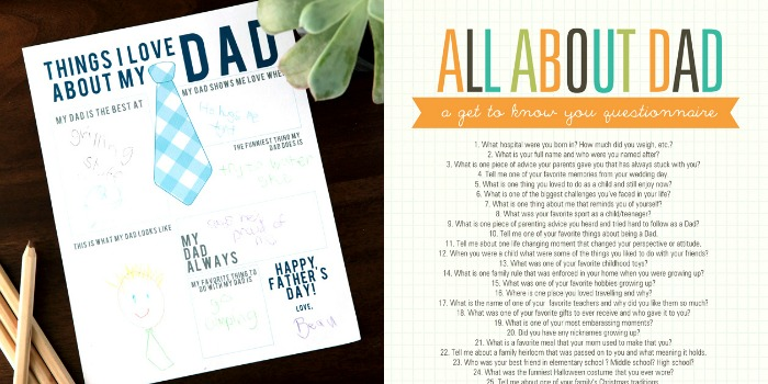 Awesome free printables for Father's Day!