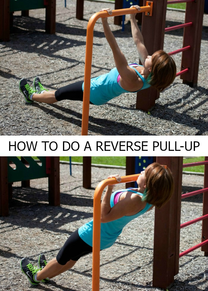 Reverse Pull-Up - great exercise for a playground workout