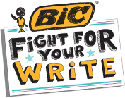 Join BIC on our mission to save handwriting and Fight For Your Write. Writing is an important vehicle for communication because it distinguishes us and promotes individuality. Did you know that writing is also a critical learning tool for children? Writing helps kids become better readers, boosts their confidence and sparks their creativity. Together we want to show children just how great writing can be... and how great they can be!