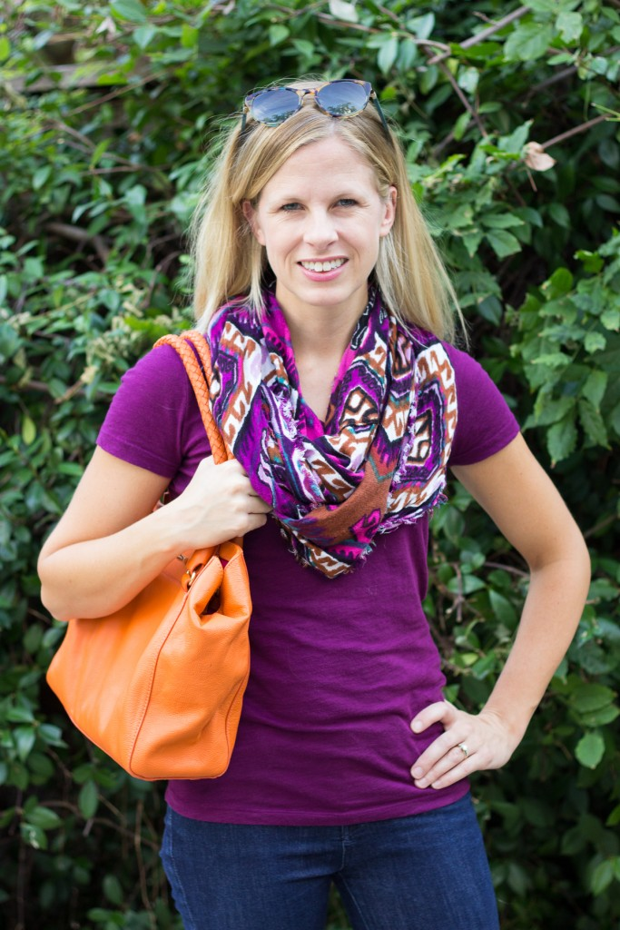 Haeley shares why colorful scarves are a must have in her Texas fall fashion wardrobe