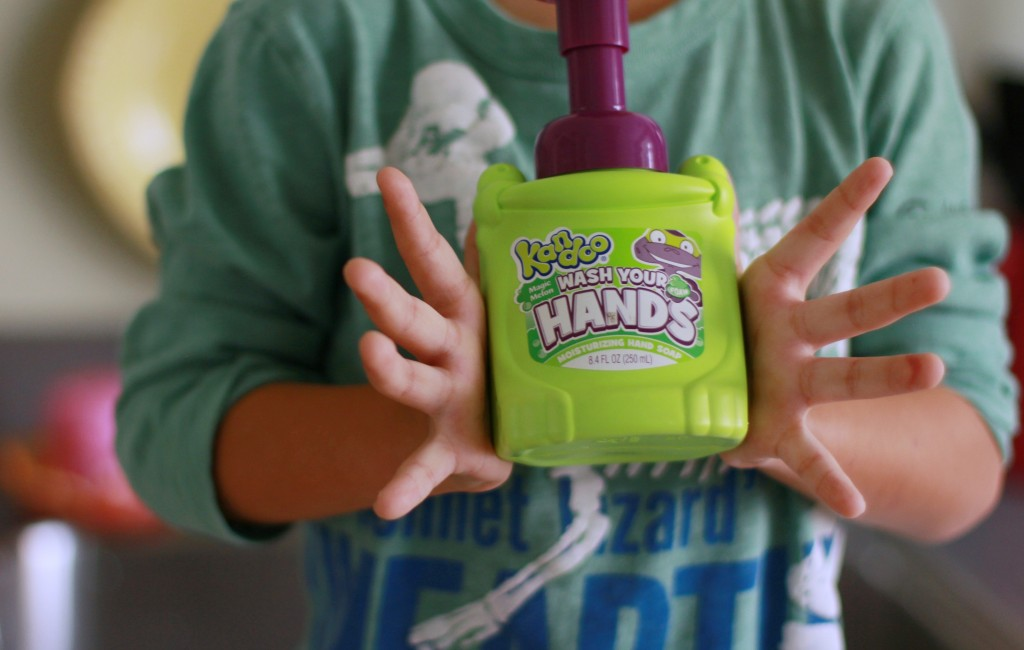 - comes in fun colors and smells so the kids love washing their hands and even do it without having to be reminded now!