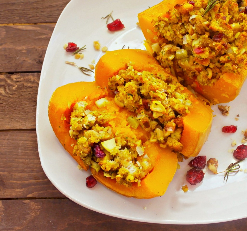 sliced stuffed butternut squash - what a fun side dish, great presentation!