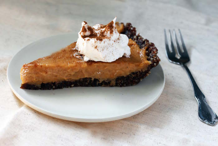 Vegan Pumpkin Pie Recipe with a Pecan Gluten-Free Crust