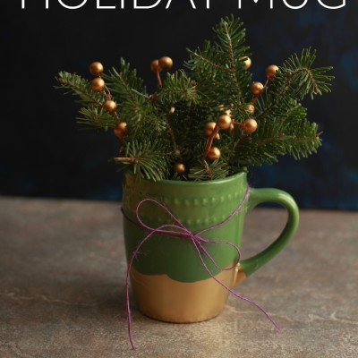 Simple Handmade Gift Idea: DIY Gilded Holiday Mug
