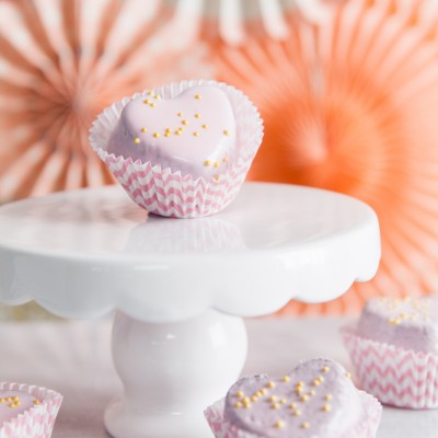 The Prettiest Valentine Petit Four Brownie Favors