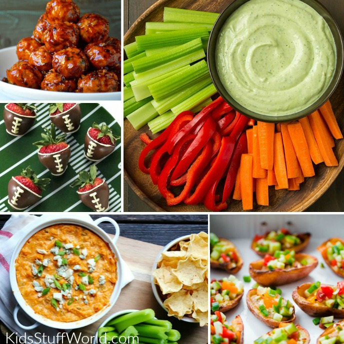 lots of healthy meal and snack ideas for the big game
