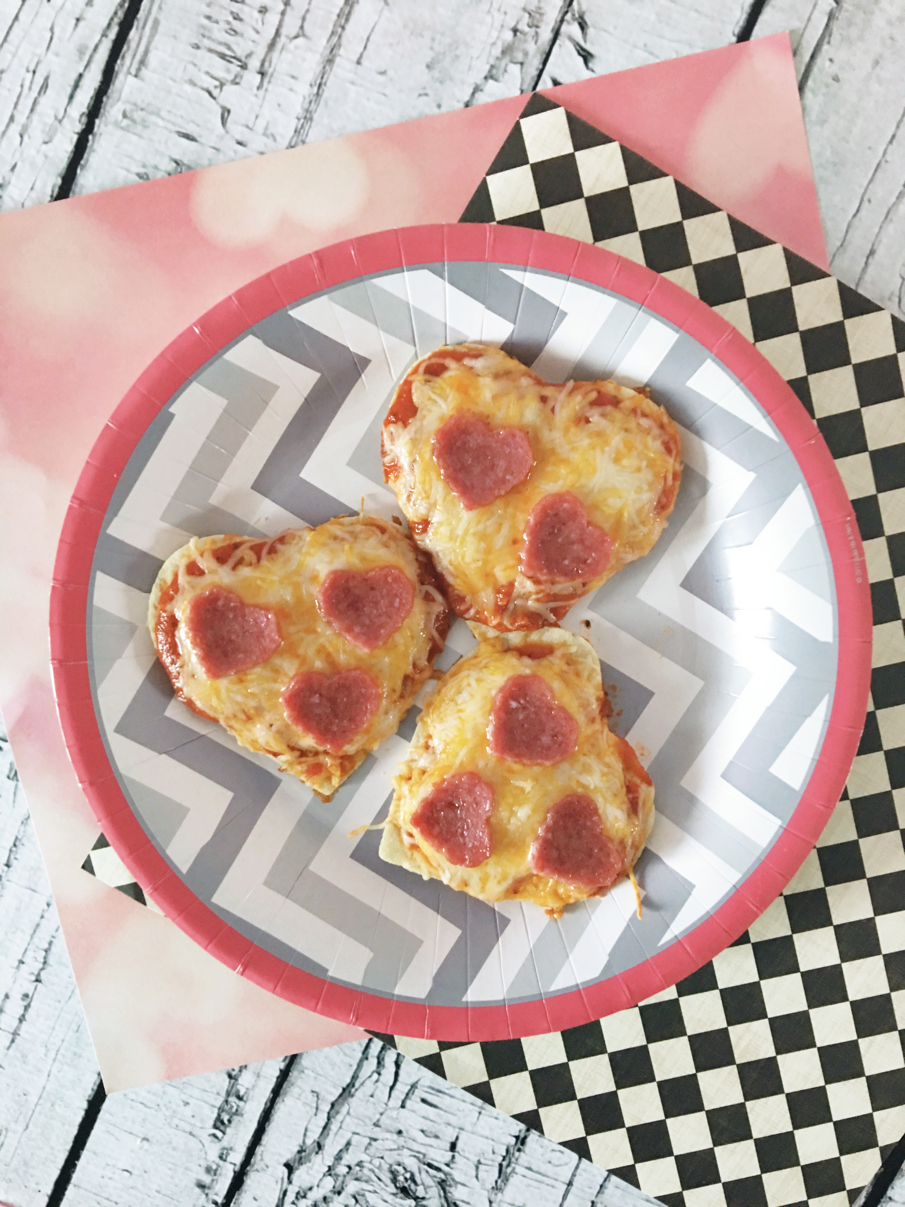 Heart Shaped Pizza Minis