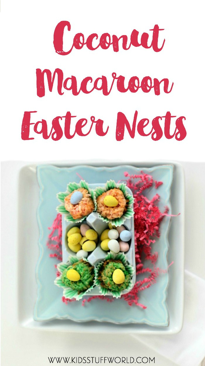 coconut macaroon easter nests -- yes! I remember making these when I was a kid, can't wait to make them with my own kids