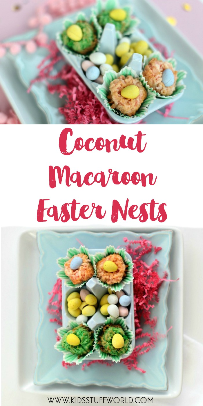 coconut macaroon nests -- such a fun easter dessert to make with the kids