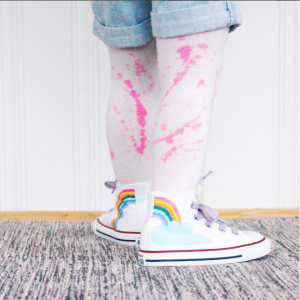 Make Your Own Rainbow High Tops