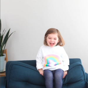 DIY Watercolor Rainbow Sweathshirt