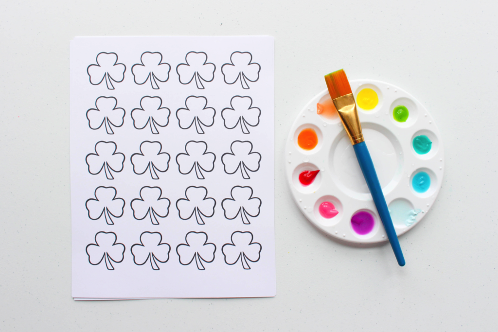 free printable shamrock template and a cute kids activity