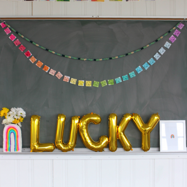 Lucky Clover Printable Rainbow Banner for St. Patrick's Day