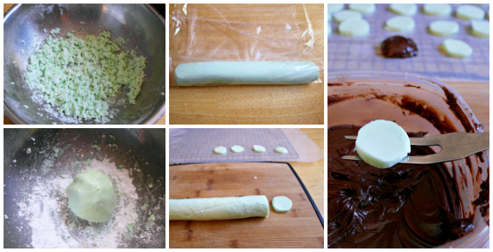 step by step instructions to make homemade peppermint patties
