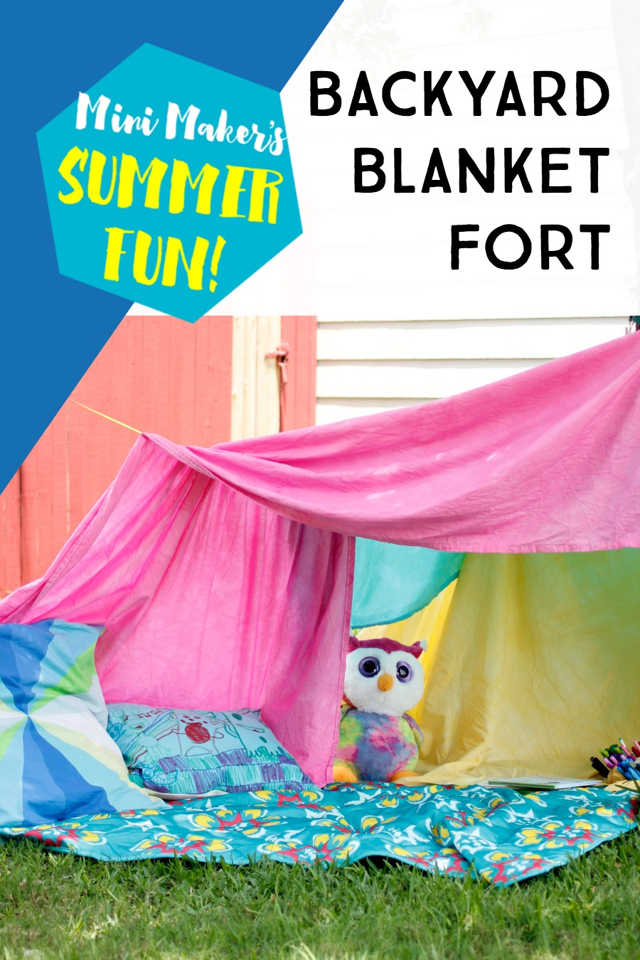 Save your sanity this summer by putting together a blanket fort kit your kids can use over and over again. The only limit is their imagination!