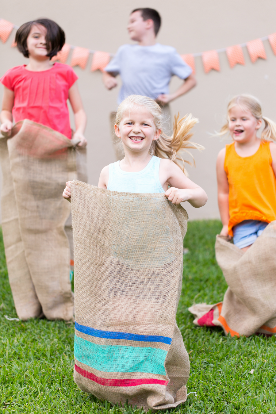 Classic! Potato Sack Races for kids, I'm going to remember this site for summer