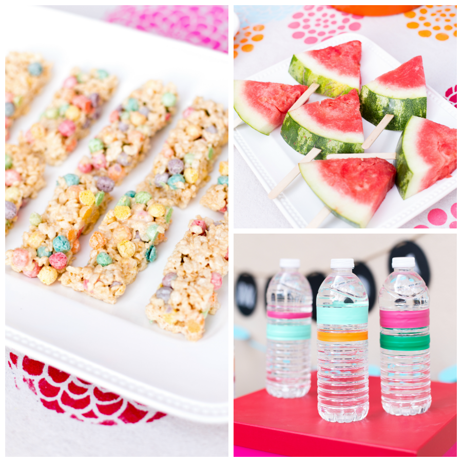 The simpler, the better! outdoor party snacks and finger food ideas for a kids party
