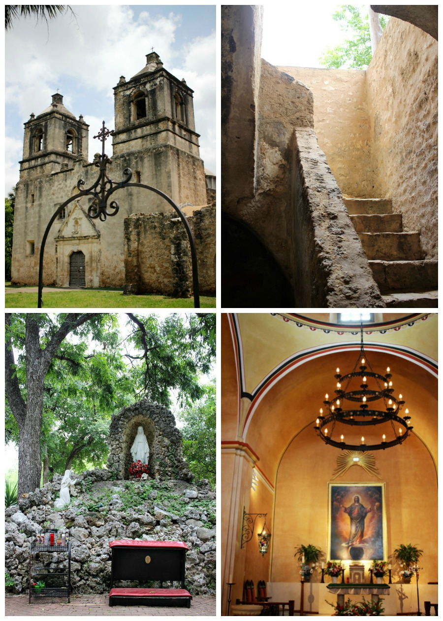 Mission Concepcion in San Antonio, Texas - one of the five Spanish missions on the San Antonio Riverwalk. This guide shows you how to visit them all with your family