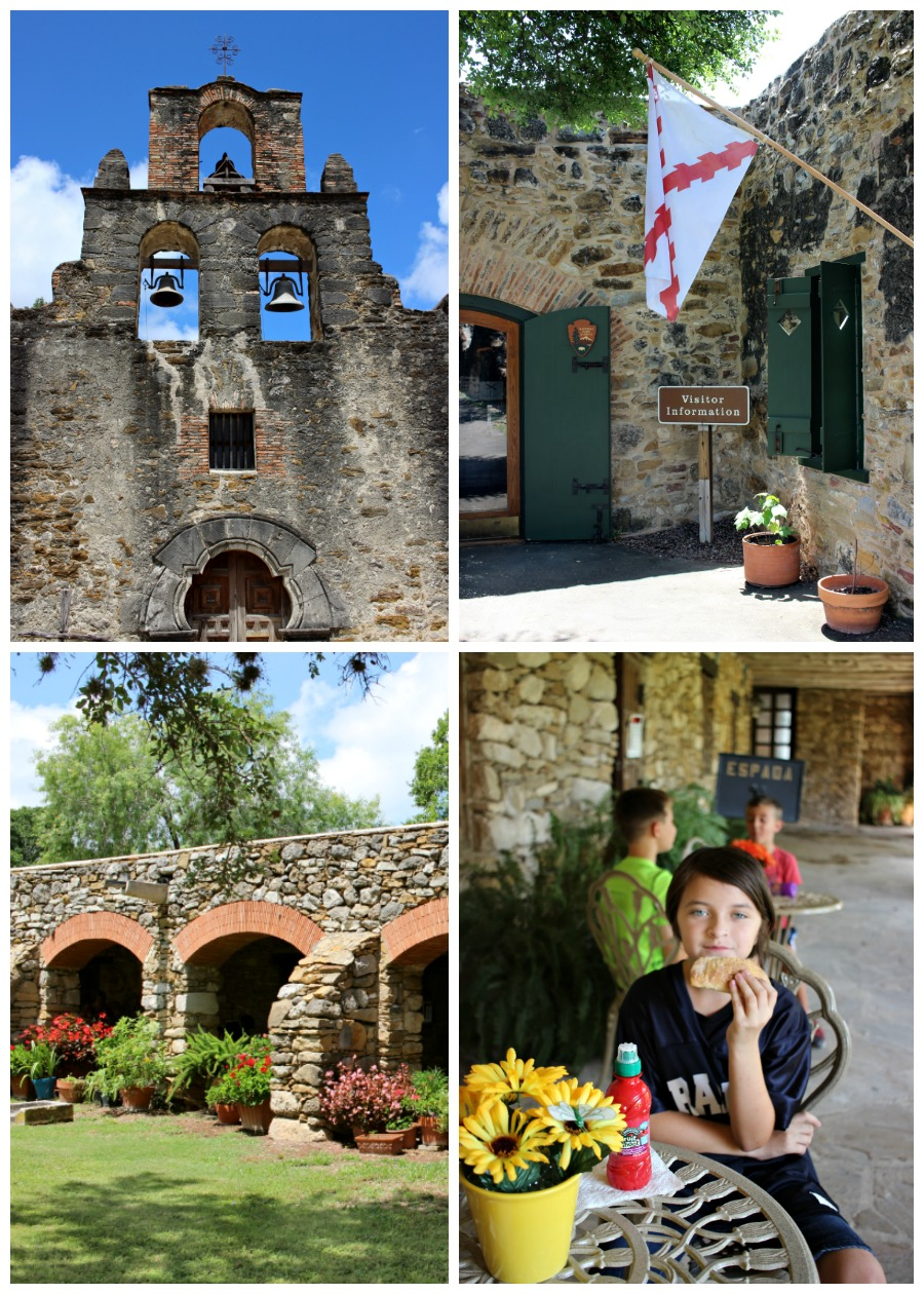 Mission Espada in San Antonio, Texas - one of the five Spanish missions on the San Antonio Riverwalk. This guide shows you how to visit them all with your family