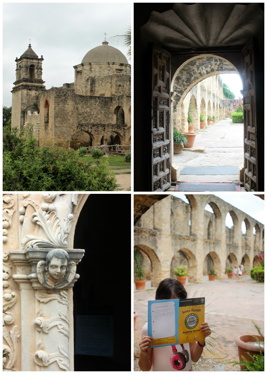 Mission San Jose in San Antonio, Texas - the largest of the five Spanish missions on the San Antonio Riverwalk. A UNESCO World Heritage Site This guide shows you how to visit them all with your family