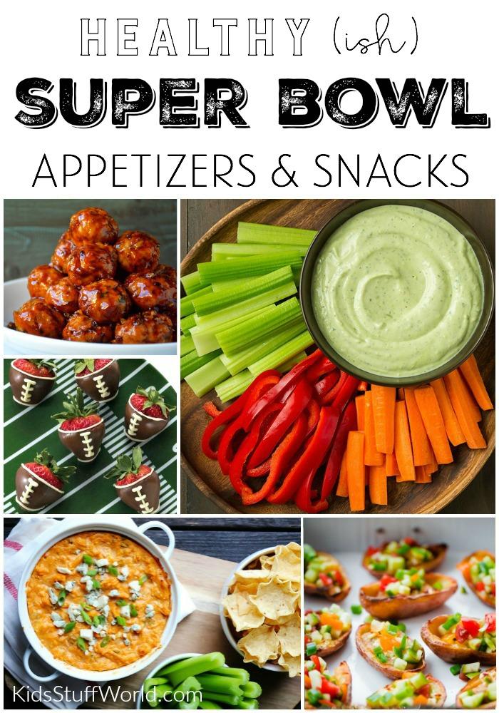 Healthier Super Bowl Etizers Day Food